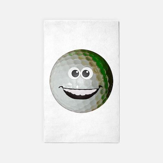 Happy golf ball 3'x5' Area Rug
