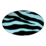 Zebra Blues Sticker (Oval)