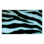 Zebra Blues Sticker (Rectangle)