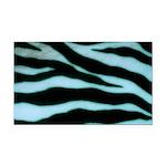Zebra Blues Rectangle Car Magnet