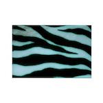 Zebra Blues Rectangle Magnet