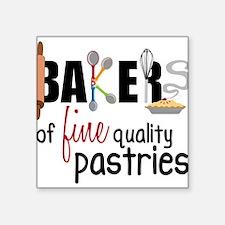 "Fine Quality Pastries Square Sticker 3"" x 3"""