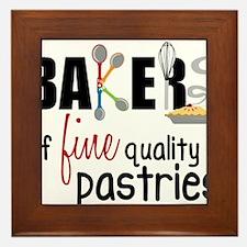 Fine Quality Pastries Framed Tile