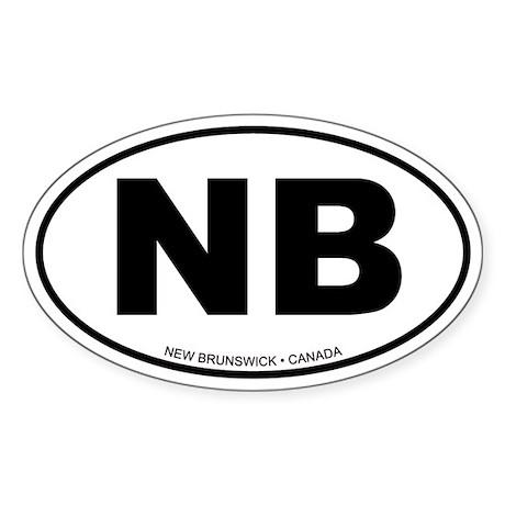 New Brunswick Oval Sticker