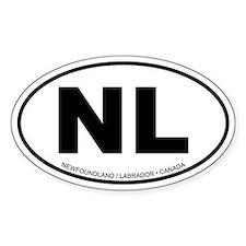 Newfoundland - Labrador Oval Bumper Stickers