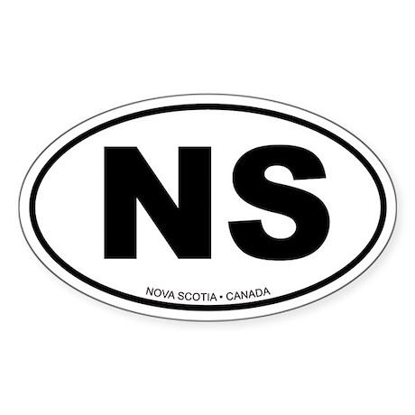 Nova Scotia Oval Sticker