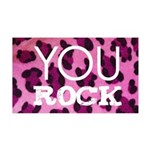 You Rock Pink 35x21 Wall Decal