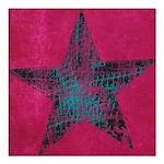 Blue Star Square Car Magnet 3