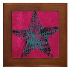 Blue Star Framed Tile