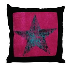 Blue Star Throw Pillow