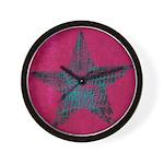 Blue Star Wall Clock
