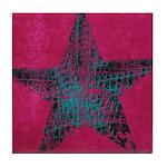 Blue Star Tile Coaster