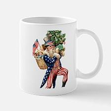 Uncle Sam Santa Claus Christmas Mug