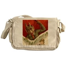 Devil Krampus Christmas Messenger Bag
