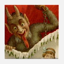 Devil Krampus Christmas Tile Coaster