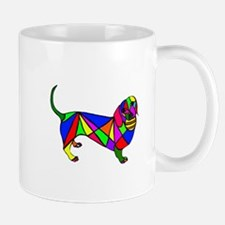 Colored Doxie & Ball Mug