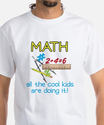 Math White T-Shirt
