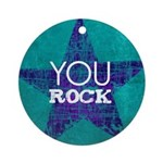 You Rock Ornament (Round)