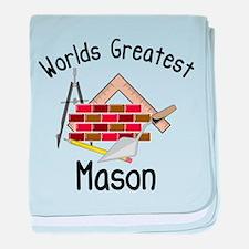 Worlds Greatest Mason baby blanket