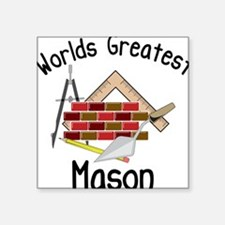 "Worlds Greatest Mason Square Sticker 3"" x 3"""