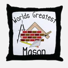 Worlds Greatest Mason Throw Pillow