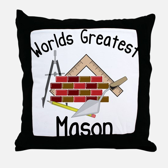 Worlds Greatest Mason Throw Pillow
