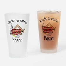 Worlds Greatest Mason Drinking Glass