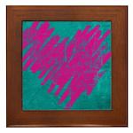 Fun Heart Framed Tile
