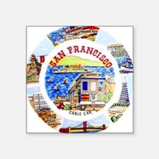Vintage San Francisco Souvenir Graphics Square Sti