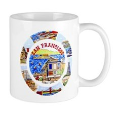 Vintage San Francisco Souvenir Graphics Mug