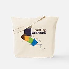 Quilting Grandma Tote Bag