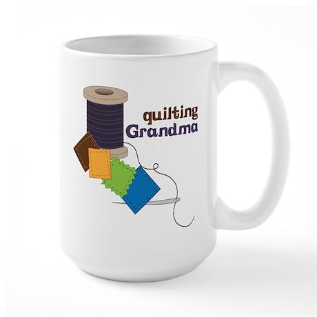 Quilting Grandma Large Mug