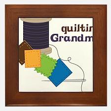 Quilting Grandma Framed Tile