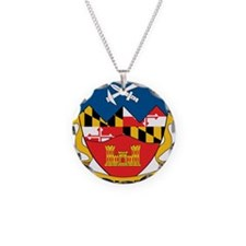121st Eng Rgt MDF Necklace Circle Charm