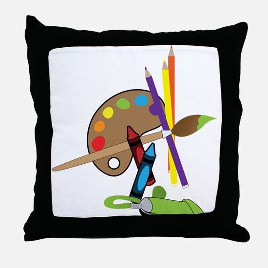 Artist Color Pallet Throw Pillow