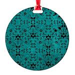 Love Patterns Round Ornament