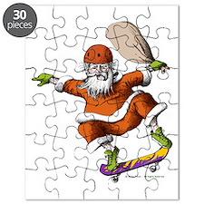 Skateboarding Santa Puzzle