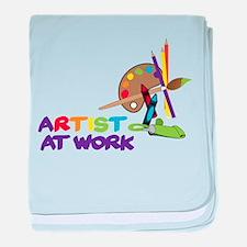 Artist At Work baby blanket