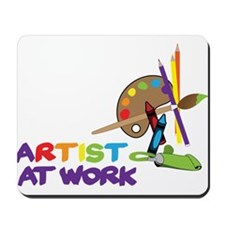 Artist At Work Mousepad