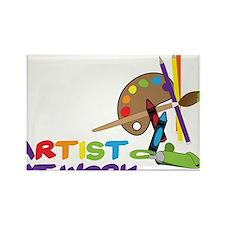 Artist At Work Rectangle Magnet