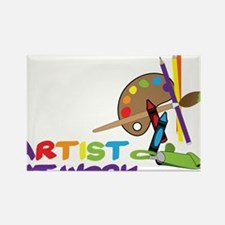 Artist At Work Rectangle Magnet