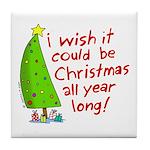 Christmas Wish Tile Coaster
