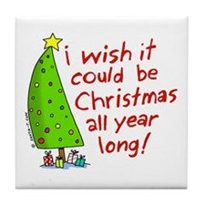 Christmas Wish Tile Coaster