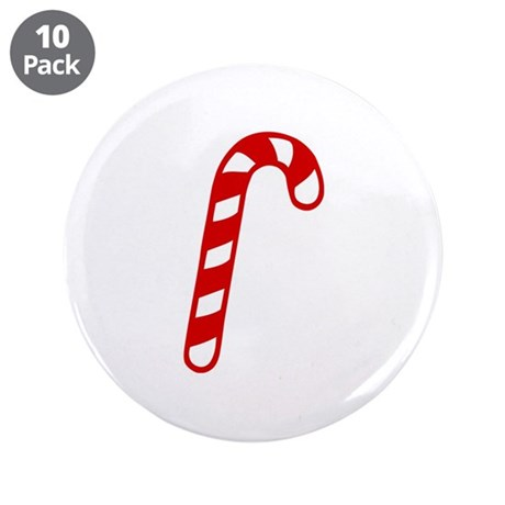 """Candy cane christmas 3.5"""" Button (10 pack)"""