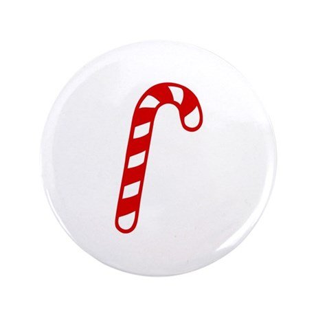 "Candy cane christmas 3.5"" Button (100 pack)"