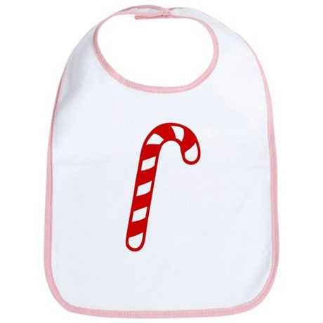 Candy cane christmas Bib