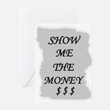 SHOW ME THE MONEY $ Greeting Cards (Pk of 10)