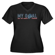 My Goal, Lacrosse Goalie Women's Plus Size V-Neck