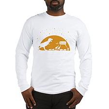 Noah and T-Rex, Witty Long Sleeve T-Shirt