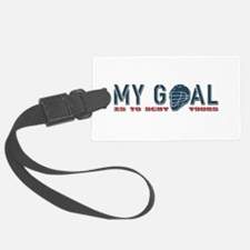 My Goal, Lacrosse Goalie Luggage Tag
